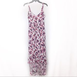Torrid white floral high low lightweight dress